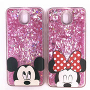 Mickey Bag For Samsung Galaxy S7 Edge Water Glitter Case Minnie Glitgter For S6 S7 S8 Active Mickey Bag For J3 J5 J7 Back Cover