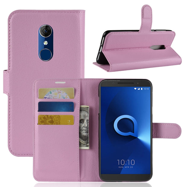 check out 59ccb 62de4 MicroData Luxury PU Leather Flip Case For Alcatel 3 5052D 5052A ...