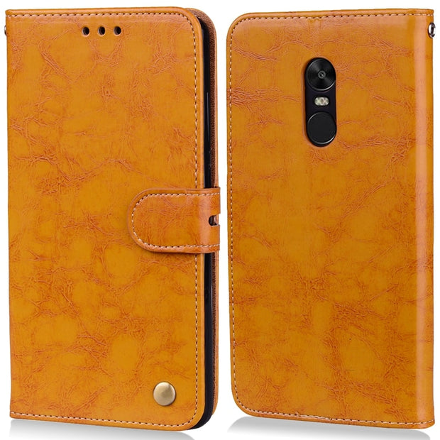 Motjerna Flip Wallet Case For Xiaomi Redmi 4X Note 4 Back Cover Coque PU Leather + Soft TPU Silicone Phone Case
