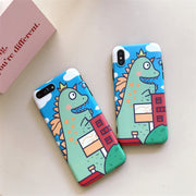 Mr.orange For Fun Cartoon Dinosaur Apple X 6 Mobile Phone Shell Iphone 8 7plus Anti-drop Silicone 8p Soft Set Men And Women