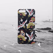Mr.orange Japan Crane Phone Cases For Iphone X 6 6s 7 8 7plus Retro Matte Soft TPU Case For Iphone X Case Protective Back Cover