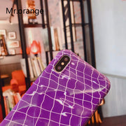 Mr.orangePhone Case For Iphone 8 7 6 6s Plus Simple Smooth IMD All Inclusive For Iphone X Stylish Purple Water Ripples Back Case