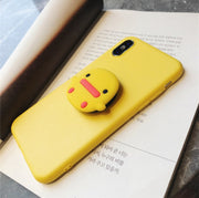 Mrrange Lovely Yellow Duck Phone Case For Iphone XS Max XS XR 8 8plus 7 7plus 6/6s Plus Soft Back Cover Case Capa With Bracket