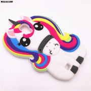 NEW 3D Cartoon Unicorn Rainbow Horse Case For Samsung Galaxy S4 I9500 SIV S IV Soft Silicon Back Cover Phone Cases