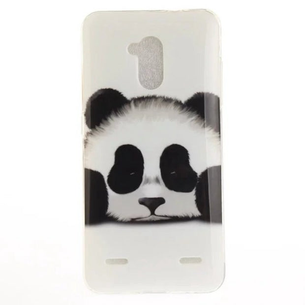 NUOCDE Soft Silicone Case SFor ZTE Blade V7 Lite X7 L5 Plus A452 A610 Ultra-Thin Tiger Lion Panda Floral Soft TPU Back Cover