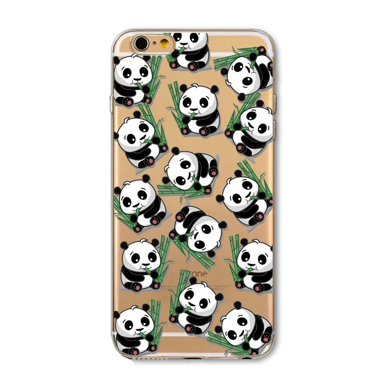brand new 0e398 f1ff3 Napeyin Panda Case For Iphone 6 6s Plus 6Plus 5s SE 4 4s 5 5C Cats Animals  Soft Silicone Transparent Coque Cover Skin Back Shell