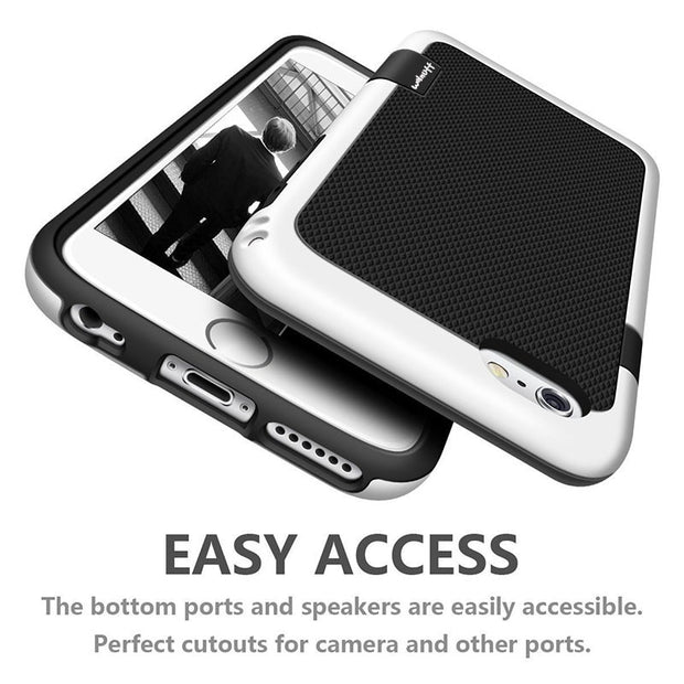 New Anti Slip Grip Shock Absorption Rubber Phone Case For Iphone 6s 8 7Plus Full Coverage Case For Iphone 7 Case In Fitted Cases