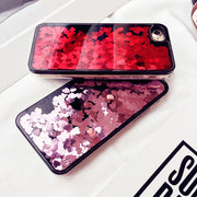 New Arrivals Dynamic Liquid Glitter Sand Case For Iphone 6 6s 7 Plus Quicksand Love Heart Back Cover Coque