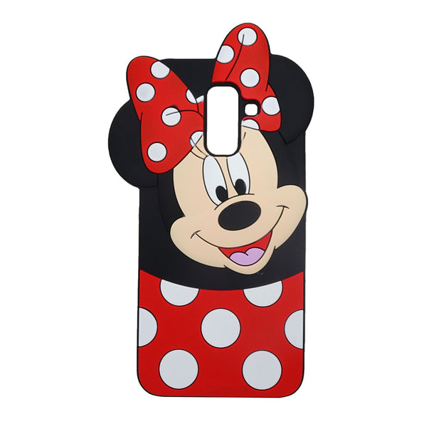 New Fundas For Samsung Galaxy J4 2018 Case Silicone 3D Lovely Cartoon Laughing Minnie Cover For Samsung J4 J400 J400F Phone Case