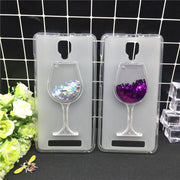 New Thick Dynamic Liquid Phone Cases For Doogee X10 Heart Glitter Sequins Soft Silicon Back Cover Sand Capa Coque Cute