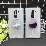New Thick Dynamic Liquid Phone Cases For Huawei Honor 6X / GR5 2017 / Mate 9 Lite Heart Glitter Sequins Soft Silicon Back Cover