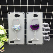 New Thick Dynamic Liquid Phone Cases For LG L Bello 2 II / Prime II Max X155 X150 Heart Glitter Sequins Soft Silicon Back Cover