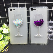 New Thick Dynamic Liquid Phone Cases For Meizu E2 M3E2 / Meilan E2 Heart Glitter Sequins Soft Silicon Back Cover Sand Capa Cup