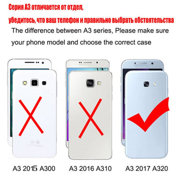 New Thick Dynamic Liquid Phone Cases For Samsung Galaxy A3 2017 SM-A3200 A320 A320FZ Soft Silicon Back Cover Sand Capa Cup