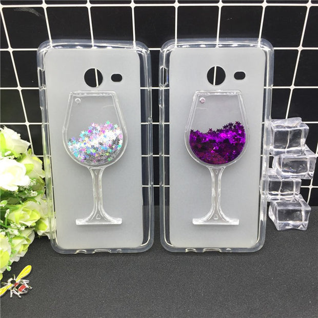 New Thick Dynamic Liquid Phone Cases For Samsung Galaxy J7 2017 US Version Glitter Sequins Soft Silicon Back Cover Sand Capa Cup
