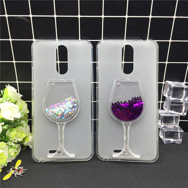 New Thick Dynamic Liquid Phone Cases For Ulefone Metal Heart Glitter Sequins Soft Silicon Back Cover Sand Capa Cup