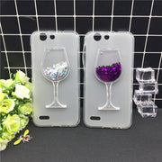 New Thick Dynamic Liquid Phone Cases For Vodafone Smart E8 VFD510 VFD-510 Heart Glitter Sequins Soft Silicon Back Cover Sand Cup