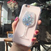 New Thick Dynamic Liquid Phone Cases For Wiko LENNY 4 /LENNY4 Heart Glitter Sequins Soft Silicon Back Cover Sand Capa Cup
