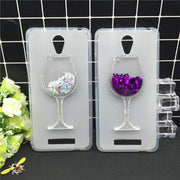 New Thick Dynamic Liquid Phone Cases For Xiaomi Redmi Note 2 / Note2 Heart Glitter Sequins Soft Silicon Back Cover Sand Capa Cup