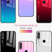 Newest Gradient Glass Shell For Huawei Honor Note 10 Case Quality Tempered Glass Cover For Huawei Note10 Honor Note 10 Coque Hot