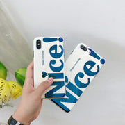 Nice Letter Phone Case For IPhone 6 7 X Silicone Back Coque For IPhone 8 Plus 7 6 6s Plus 8Plus Blue-ray Case Cover For IPhone8