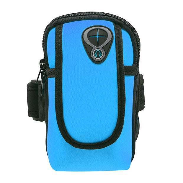 Outdoor Sport Fitness Running Arm Band Phone Bag Pouch Zippered Mobile Phone Bag For IPhone 6 7 8 X Samsung Huawei Smart Phone