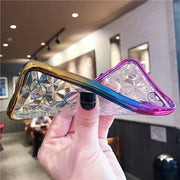 Pebble Case For IPhone 6s 7 8 Plus Crystal Diamond Grain Tricolor Gradual Change For Iphone X Soft TPU Mobile Phone Shell