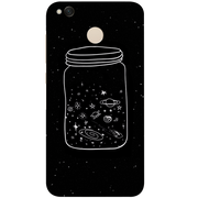 Phone Case For Xiaomi Redmi 3 3S 4A 4X 4 4S Mi A1 Mi 5X Note 3 4 4X 5A Case Back Cover Luxury Starry Sky Bottle Blackis TPU