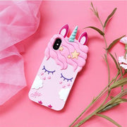 Phone Case For IPhone X Originality Durable Fashion Unicorn Cute Cartoon Horse Soft Girl Cover Cases For IPhone 6 6S 7 8 Plus