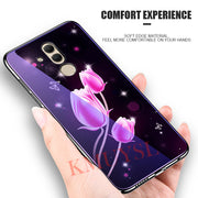 Plating Glass Phone Case For Huawei Mate 10 20 P20 Lite P Smart Plus Nova 3 3i On Honor Play 10 9 Note 10 8X 7X 7C 7A Pro Caso