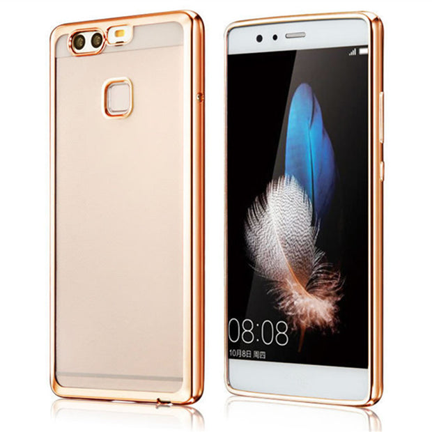 Plating TPU Clear Case For Huawei Nova 2 2S Ascend P8 P9 P10 Lite Plus Mate 7 8 S 9 10 Pro Luxury Ultra Thin Soft Silicone Cover