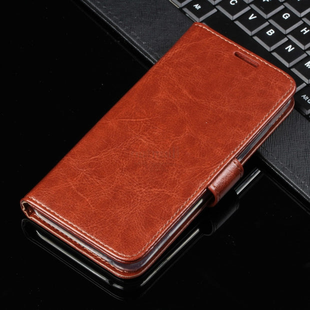 Premium Vintage Leather Book Flip Folio Cover For Samsung Galaxy A7 2018 A750 Case Wallet KickStand Card Photo Handmade Bags