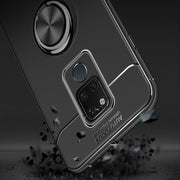 ProElite Soft Silicone Shockproof Back Cover For Huawei Mate 20 Lite Car Magnetic Ring Holder Stand Case For Huawei Mate 20 Pro