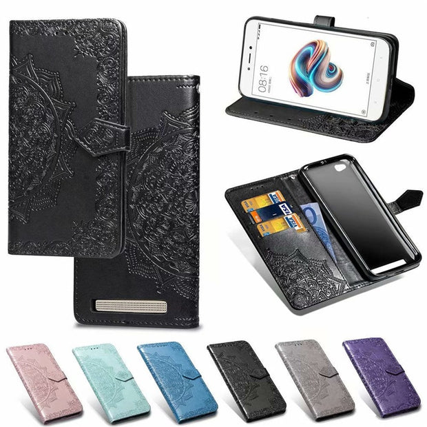 Redmi5A Case On For Xiaomi Redmi 5A Case Flip Leather 3D Mandala Flower Case For Xiaomi Redmi 5A 5 A Case Cover Coque