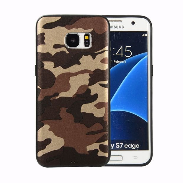 Retro Camouflage TPU Case Shockproof Cover For Samsung Galaxy S7 S7 Edge S8 S9 Plus Soft Cover