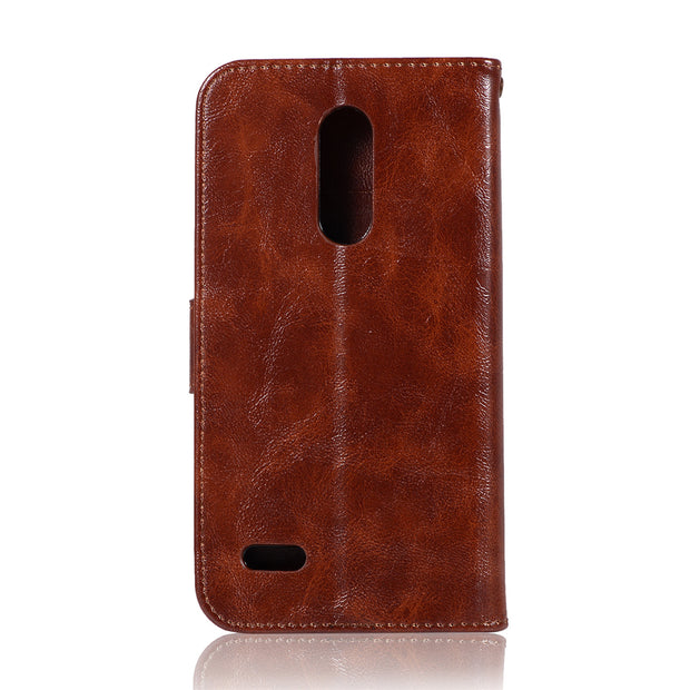 Retro PU Leather Flip Case For LG V30 K10 2018 G6 Q6 Q8 Stylo 2 3 4 Plus X G7 ThinQ Power Style Wallet Cover Purse