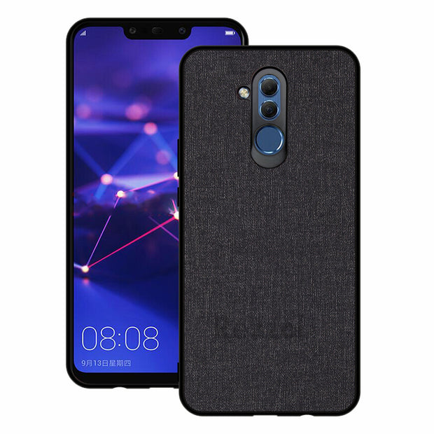 Rezzol For Huawei Mate 20 Pro Case For Huawei Mate 20 Lite Cover Case Fabric Pattern Hard PC Soft Bumper Back Cover For Mate 20