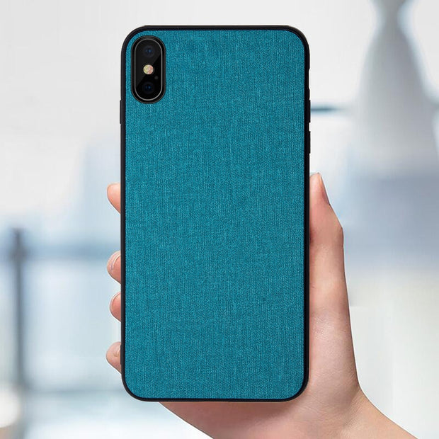 Rezzol For IPhone Xs Max Xr Xs Case Fabric Pattern Hybrid Hard PC Cover Case For IPhone Xs Max Xr Shockproof Silicon Bumper Capa