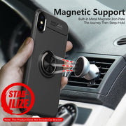 Ring Holder Case For IPhone Xs Max Cover Magnetic Bracket Phone Case For IPhone Xs Xr X 10 8 7 6 6s Plus Bumper Protective Cases