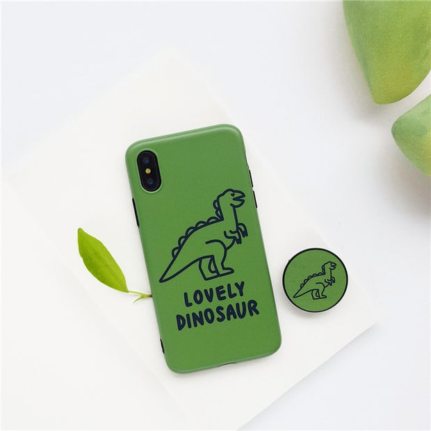 Ring Air Bag Stand Holder Dinosaur Case For Iphone X XR XS XS Max Expanding Stand Grip Case For Iphone 6 6s 7 8 7plus