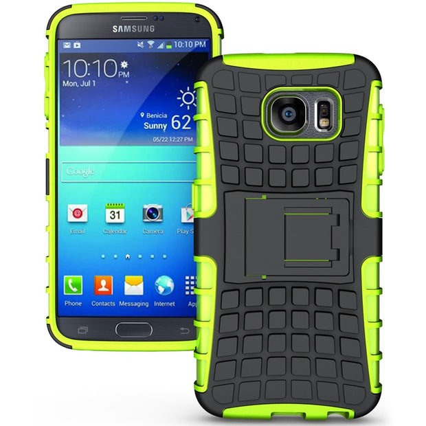 Rugged Silicone Case For Samsung Galaxy S6 Case Cover Dual Protective Hard Back Phone Case For Samsung S6 Case G920F G920FD