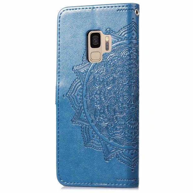 S9Plus Case On For Samsung Galaxy S8 Plus Case Flip Leather 3D Mandala Flower Case For Samsung Galaxy S9 Plus Case Cover Coque