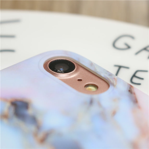 Scrub Marble TPU Case For Iphone X 7 7Plus Stone Image Painted Soft TPU Case For Iphone 6 6s 6Plus 8 8Plus Protective Shell