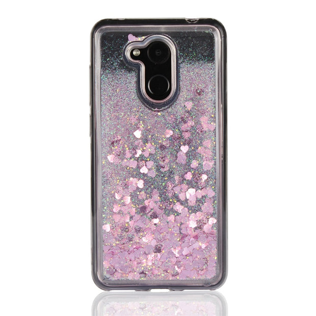 Shiny Love Glitter Liquid Coque For Huawei Honor 6C Pro Soft TPU Case Quicksand Cover Fundas Phone Carcasa Capinhas Para 6C Pro