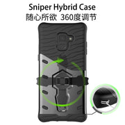 Shockproof 360 Rotating Kicktand Case For Galaxy A3 A5 A7 2017 A8 Plus 2018 Hybrid Sniper Armor Case For Samsung Galaxy A8 2018