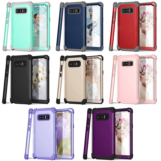 Shockproof Phone Cases For Samsung Galaxy S8 S8 Plus Cover Durable Hybrid Full Body Protect Case For Galaxy Note 8 Phone Shell