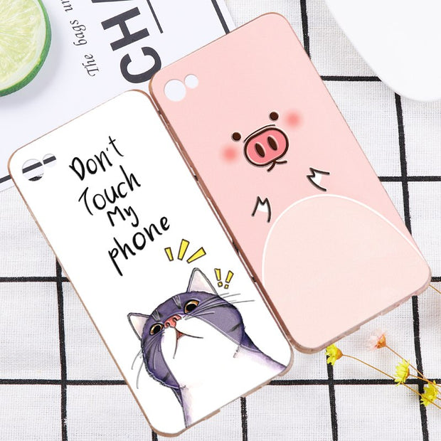 "ShuiCaoRen Silicone Phone Case For MEILAN U20 Cute Cartoon Cat Pig Phone Cover Bag For MEIZU U10 5.0"" Phone Cases"