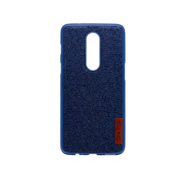 timeless design 6bba4 5b868 Silicone Case Bumper Fabric For OnePlus 6 TPU Soft Silicon Inside Cotton  Cloth Outside For OnePlus 6