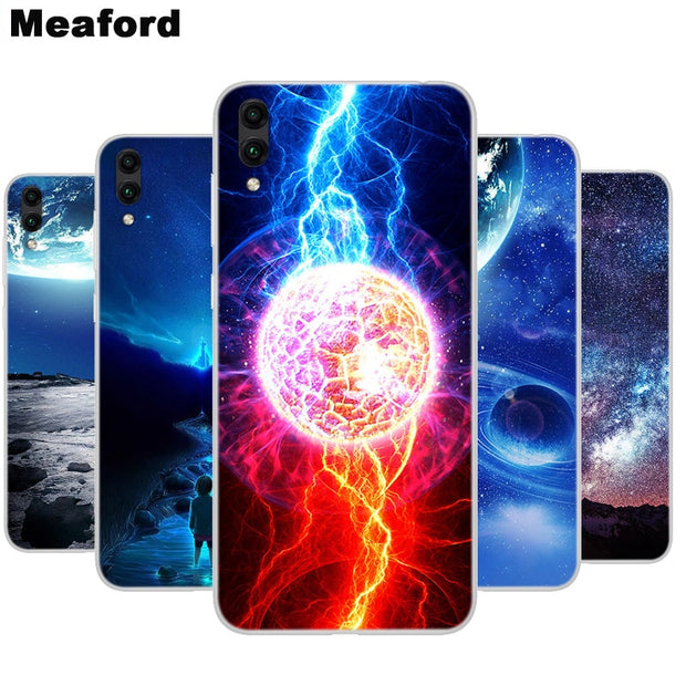 Silicone Case For Huawei Y7 Prime 2019 Capa Soft Art Print Back Cover For  Huawei Y7Prime 2019 6 26 Inch Clear Bumper Phone Case