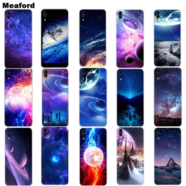 Silicone Case For Huawei Y7 Prime 2019 Capa Soft Art Print